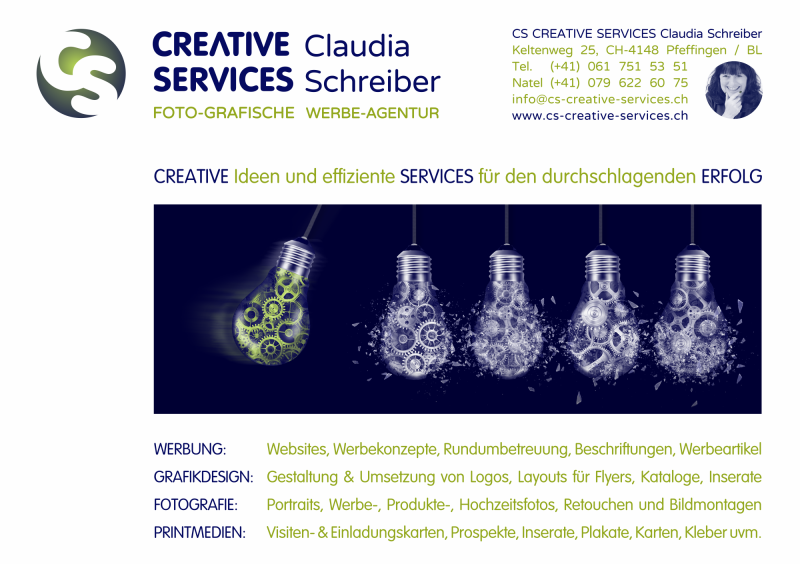 CS CREATIVE SERVICES Claudia Schreiber
